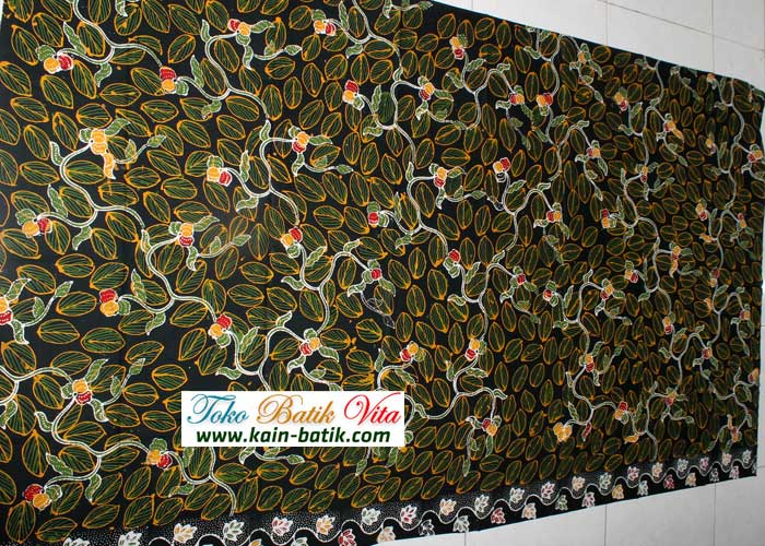 batik daun hijau kbm 3769 image Kain Batik Motif Daun KBM 3769