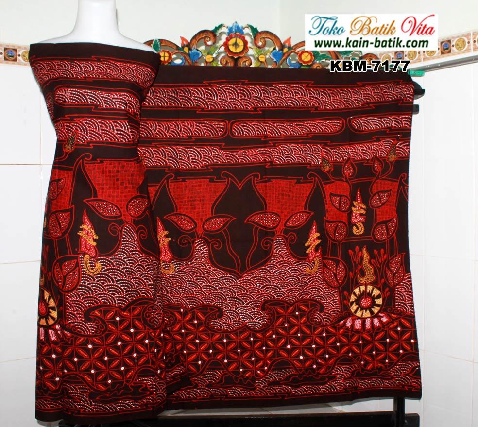 Batik Tulis Tradisional Trunojoyo Merah KBM-7177 - Kain ...